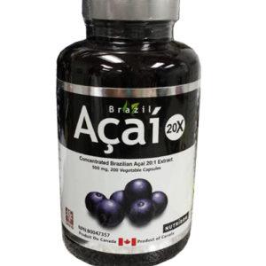 Brazil Acai Berry 20:1 extract 200 capsules