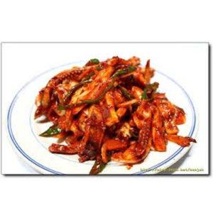 새콤달콤 한국식품 오징어 무침-중량별판매품