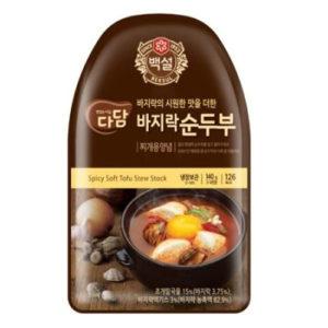 CJ 다담 바지락 순두부 찌게양념 140g (4인분)