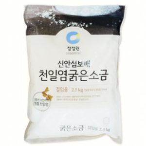 청정원 신안섬 보배 천일염 굵은소금 5kg-절임용