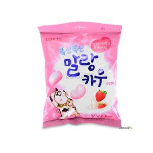 롯데 폭신폭신 말랑카우 63g-딸기맛