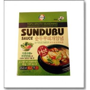 수라상 순두부 찌게 양념 43g-야채(매운맛)