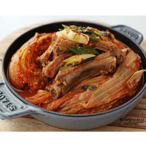 한국식품 돼지 등갈비 김치 찜