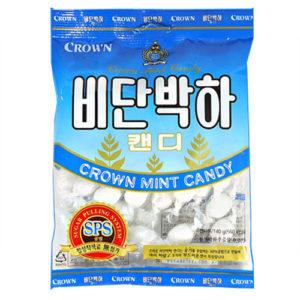 크라운 비단박하 사탕 140g