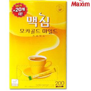 맥심 모카골드 커피믹스 200개(180+20개더)