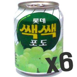 롯데 쌕쌕 포도 6캔