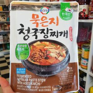 냉동 수라상 묵은지 청국장 찌개 500g