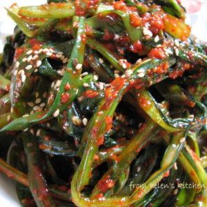 한국식품 유채나물 김치 1kg