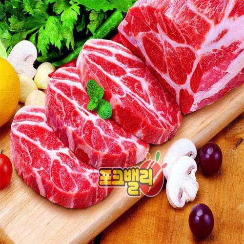 수육용 돼지목살 1kg(썰지 않은 덩어리 고기)