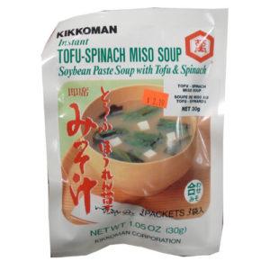 Kikkoman 미소국 3인분-Tofu spinach Miso soup 30g