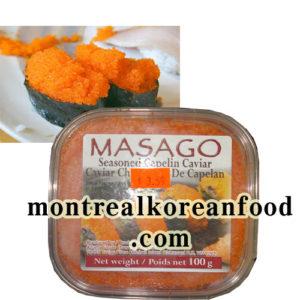 Masago 100g [Seasoned caviar]-Azuma food