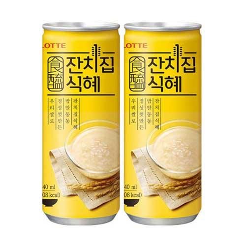 롯데 잔치집 식혜 6캔