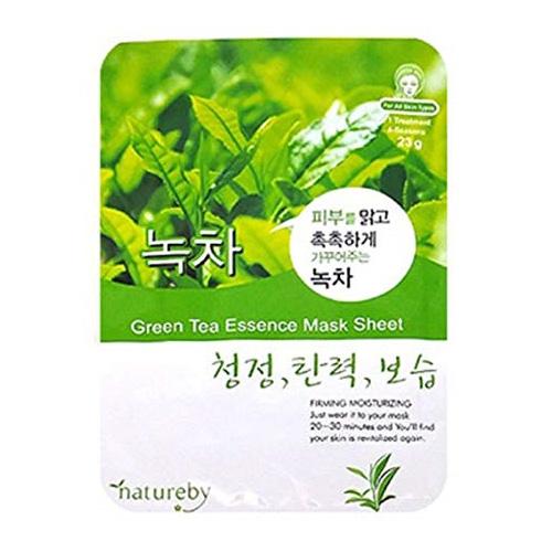 Natureby 한국산 마스크팩-녹차[청정,탄력,보습]